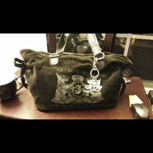 Juicy Couture Black Velour Day Dreamer Handbag