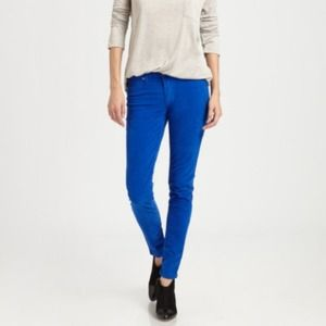 Hudson Jeans Denim - Hudson Royal Blue Corduroy Skinnies