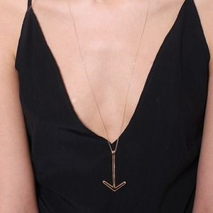 by Boe Large Gold Arrow Necklace