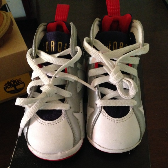 best authentic 243cd a8a04 OLYMPIC JORDAN RETRO VII (7) SIZE 4.5 ((TODDLERS)) NWT