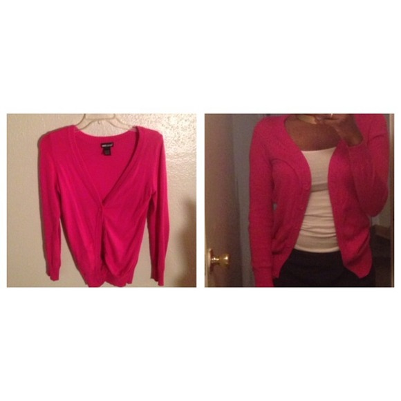 Wet Seal Sweaters - Hot pink cardigan