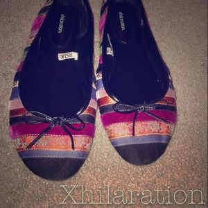 Shoes - Multi-fabric Ballet Flats