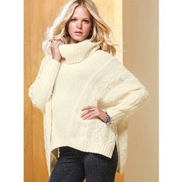 87% off Moda Sweaters - Victoria Secret Cowlneck Poncho Sweater ...
