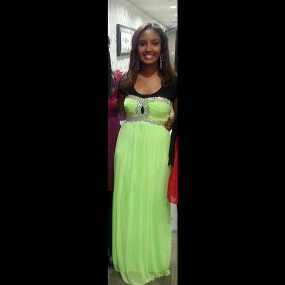 Rhinestone Prom Dress
