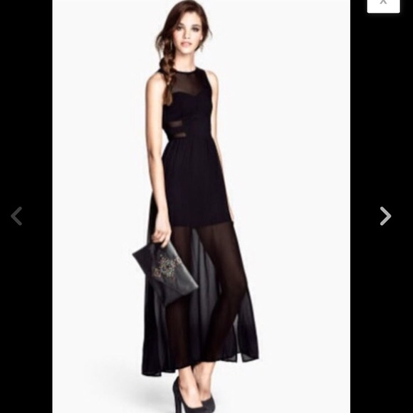H&M Dresses & Skirts - H&M Black and Sheer Maxi