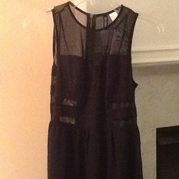 H&M Dresses - H&M Black and Sheer Maxi