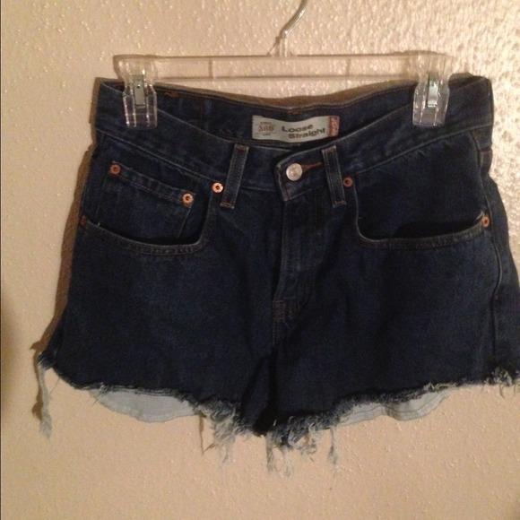 Levi's Jeans - DIY demin cut off shorts