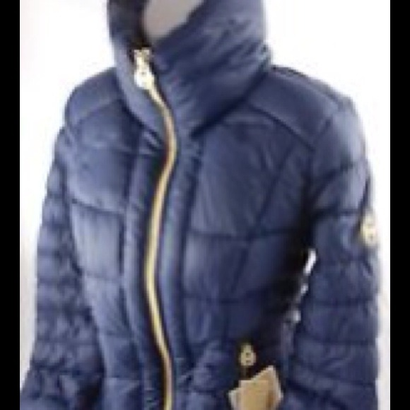 53 off michael michael kors outerwear navy blue michael kors down fill jacket from. Black Bedroom Furniture Sets. Home Design Ideas