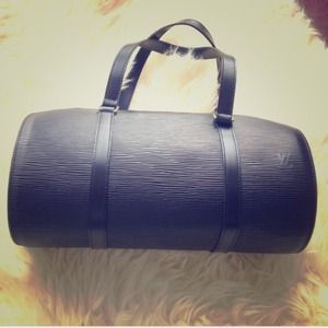 Authentic Louis Vuitton Epi Soufflot black bag