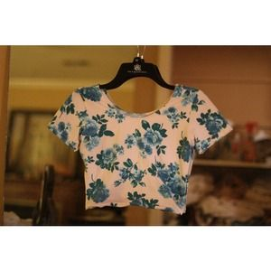 American Apparel Floral Spandex Crop Top
