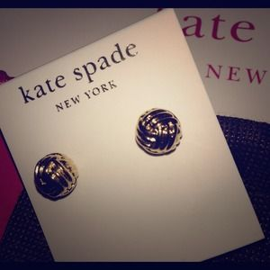 New Kate Spade Nautical Rope Knot Ball Studs