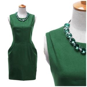 Emerald Green Cinched Waist Dress
