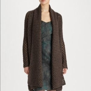 Ports 1961 Knit Long Open front Cardigan Med. NWT