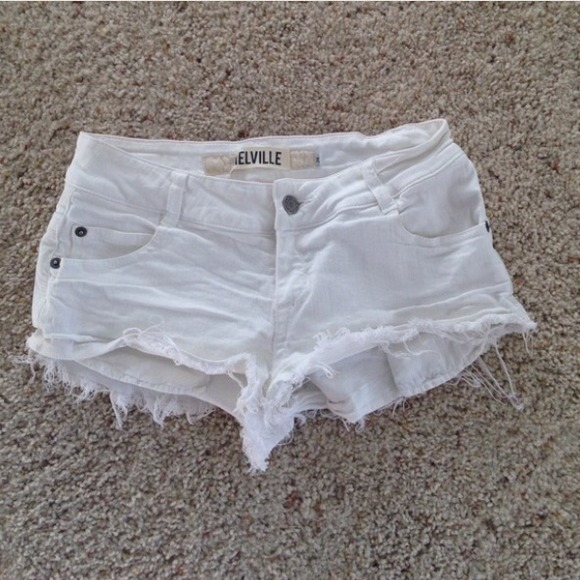 Brandy Melville - Brandy Melville white denim cutoff shorts from ...