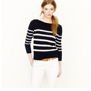 J. Crew Sweaters - Jcrew ripple stitch sweater in stripe