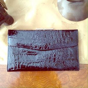 Gorgeous faux croc wallet / clutch
