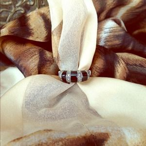 Jewelry - Sterling silver and onyx dome ring