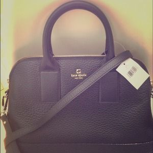*Reduced!* Kate Spade Black Leather Satchel