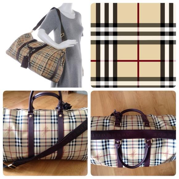1cb078428177 Burberry Handbags - Burberry Haymarket Duffle