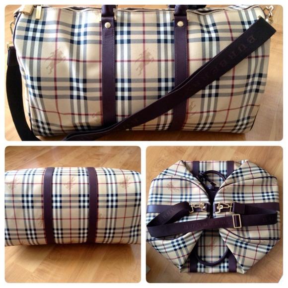 Burberry Haymarket Duffle Bag