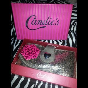 NEW! CANDIES Glitter Wristlet Clutch