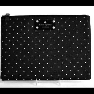 host pickKate Spade polka dot clutch