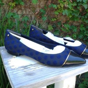 Mixed Media Leather Flats