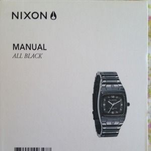Nixon black watch