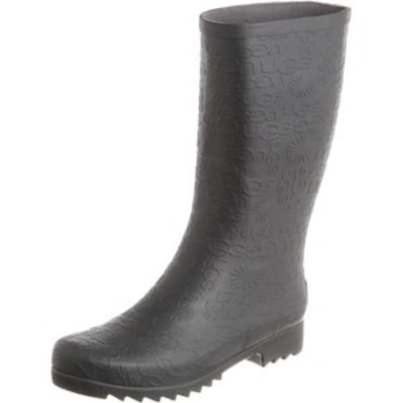 58d244fbecf Ugg Grey Rain boots Sheepskin Sockliner