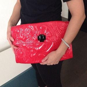  HP  Kate Spade Red Patent Clutch