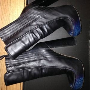 Alexander wang ankle boots black and blue