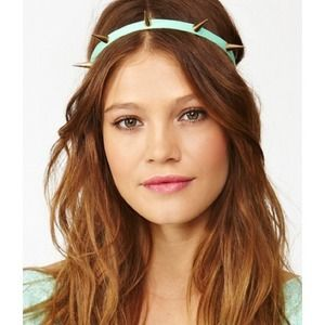 Nasty Gal Mint Green Spike Headband