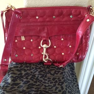 WOWRebecca Minkoff red leather studded MAC