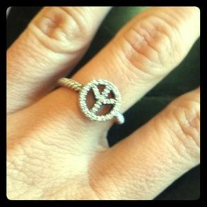 David Yurman Pave Diamond Peace Ring
