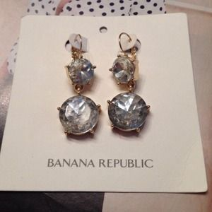 Banana Rep Gumdrop Crystal Earrings