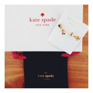 HP NWT Kate Spade Gold Bow Earrings