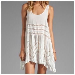 NWT FREE PEOPLE VOILE LACE SLIP