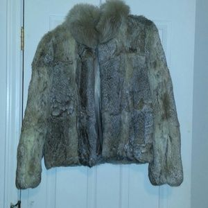 Vintage Tan Rabbit Fur Coat