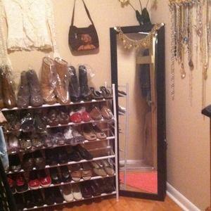 Sharing. Reorganizing my closet.