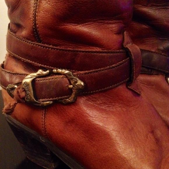 9796c9797c6a7 Vintage Zodiac Brown Leather Riding Boots