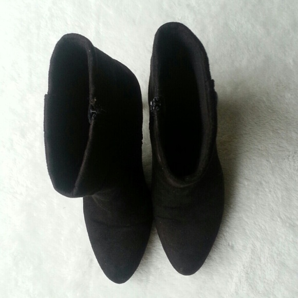 72 payless shoes black faux suede boots from
