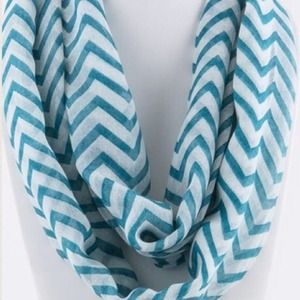 Accessories - Chevron Infinity Scarf/Turquoise. Price Firm