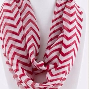 Accessories - Chevron Infinity Scarf/Red. Price Firm