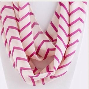 Accessories - ZigZag Infinity Scarf/Fuchsia. Price Firm