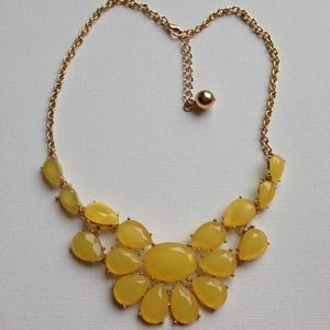 Yellow sunflower beautiful necklace