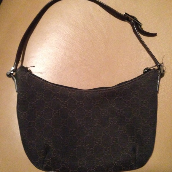 Gucci Clutches   Wallets - Gucci GG Small Canvas Hobo Baguette 32160 6fa1ddaca2e7a