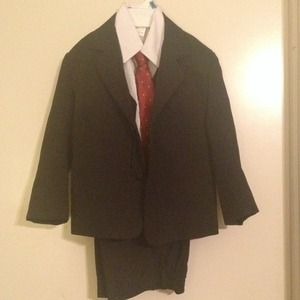 Other - Boys size 5 suit. Black red tie never worn