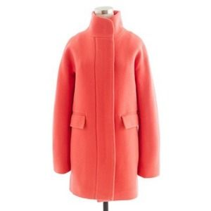 J. Crew Stadium cocoon coat coral 6,  fits like 8