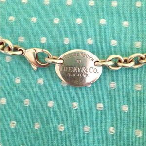 Authentic Tiffany and Co. Oval Tag Necklace