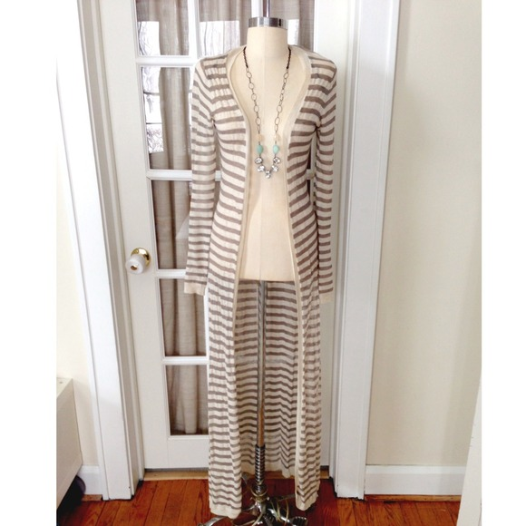 Anthropologie - Flash Sale! Anthropologie Long Striped Cardigan ...